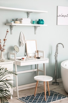Стильный интерьер современной ванной комнаты