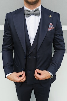 Stylish look, fashion look, men look, wedding style, fashion concept, brand clothing, classic costume