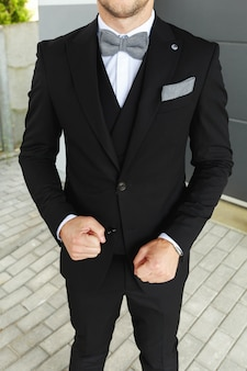 Stylish look, fashion look, men look, wedding style, fashion concept