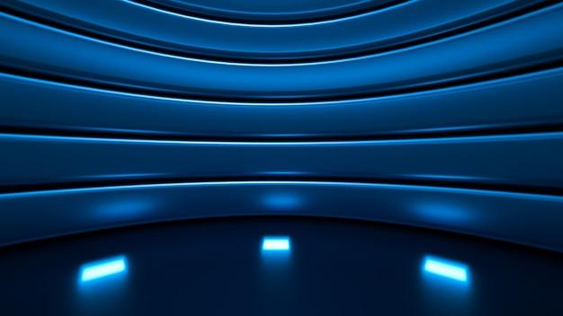 Стильный роскошный элегантный студийный пьедестал фон 3d иллюстрация