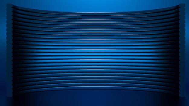 スタイリッシュで豪華なエレガントなスタジオ台座の背景3dイラスト