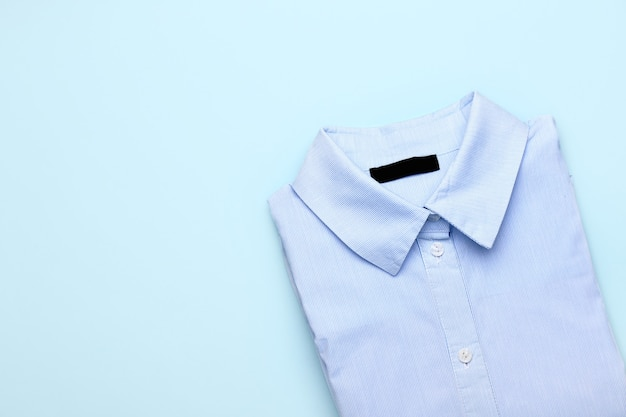 Stylish male shirt on color