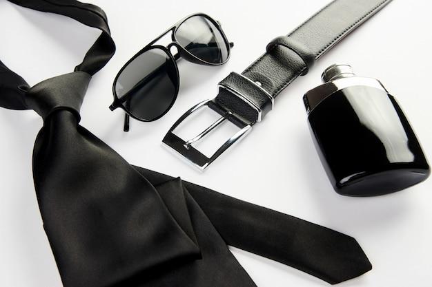 Стильные мужские аксессуары, мужская мода. концепция дня отца