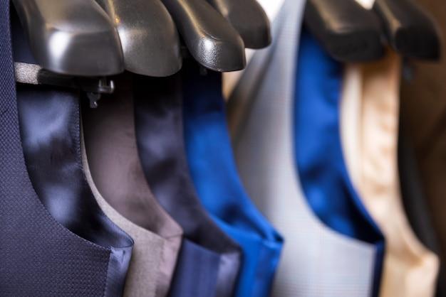 Stylish men's vest close up.