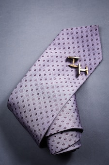 Stylish mens accessories tie and cuff links