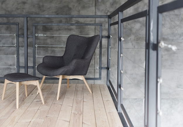 Stylish modern designer armchair