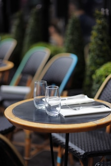 Stylish outdoor cafe in paris, france