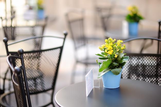 Stylish outdoor cafe