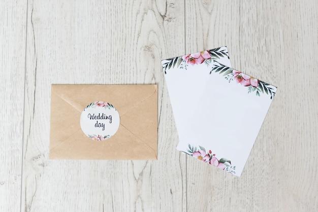Stylish pink wedding invitation beautiful details