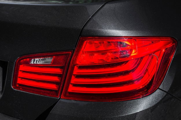 Stylish rear light on new dark auto