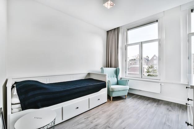 Стильный номер с односпальной кроватью