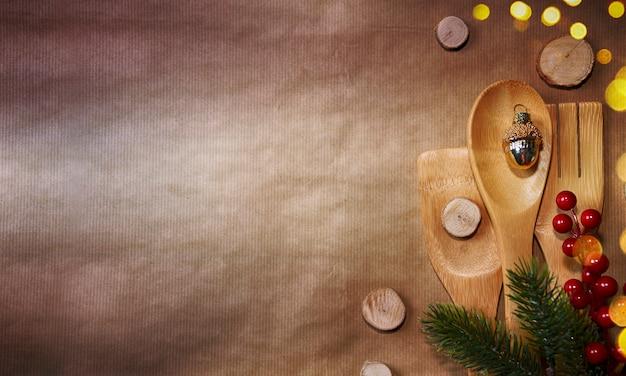 スタイリッシュな素朴なクリスマス背景