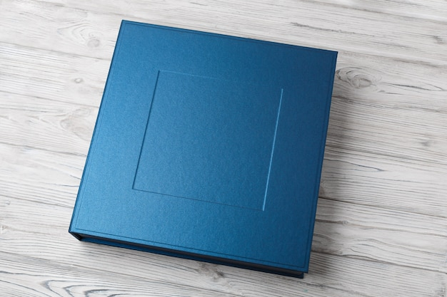 Stylish square box for photo books.