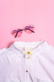 Stylish summer and spring women's clothes from the wardrobe