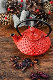 Stylish tea still life