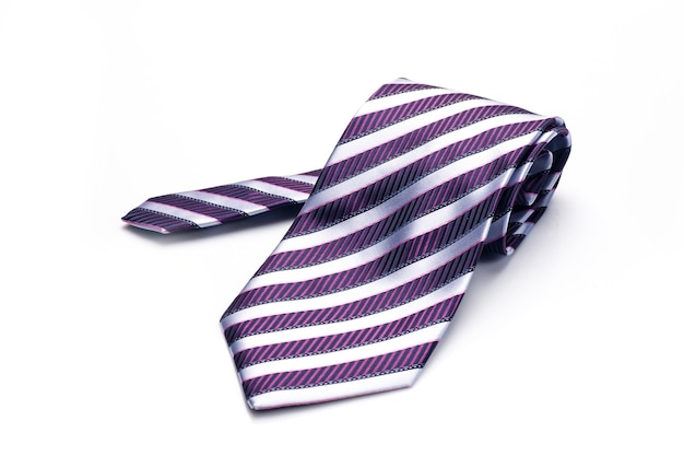 Стильный галстук для мужчины, изолированные на белом фоне
