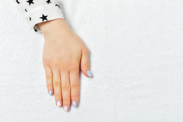 Stylish trendy female manicure.