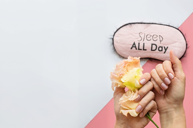 Stylish trendy female pink manicure