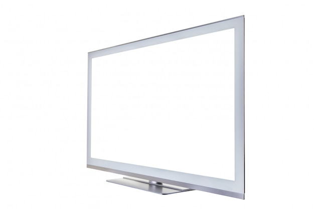 Stylish tv with an blank isolated screen for text or images