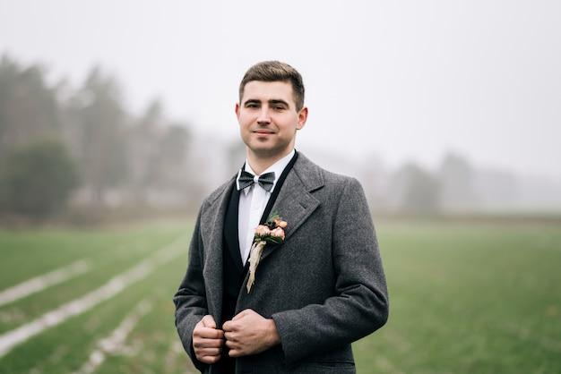 Stylish wedding groom