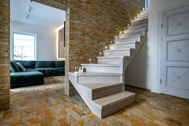 brick and wood modern houses