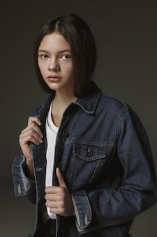 Stylish young teen girl