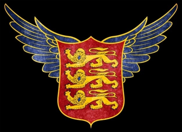 Stylized royal arms of england grunge