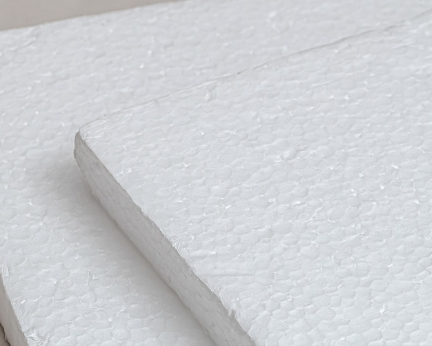 Styrofoam board texture in flat view for abstract background