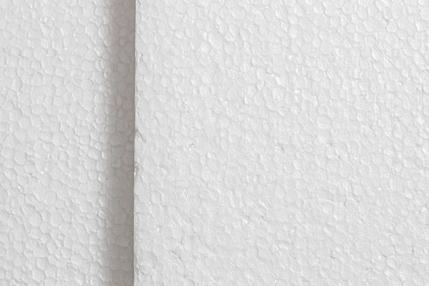 Styrofoam board texture with a top view