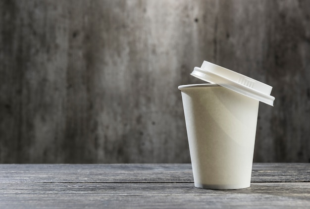 Styrofoam cup with coffee