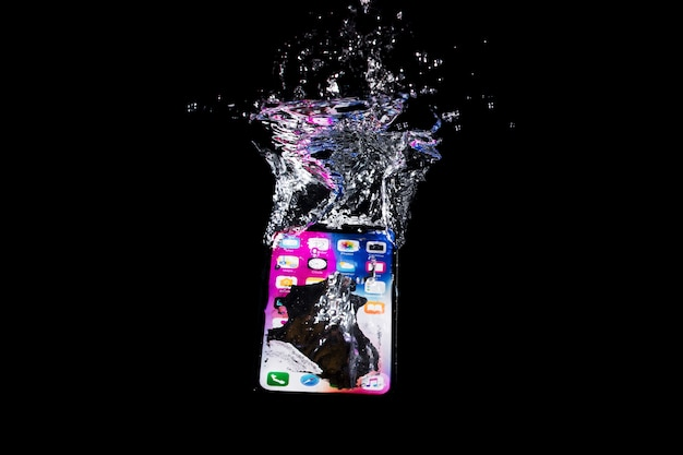 Submerged iphone