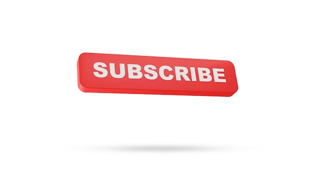 Subscribe button on isolated on white background