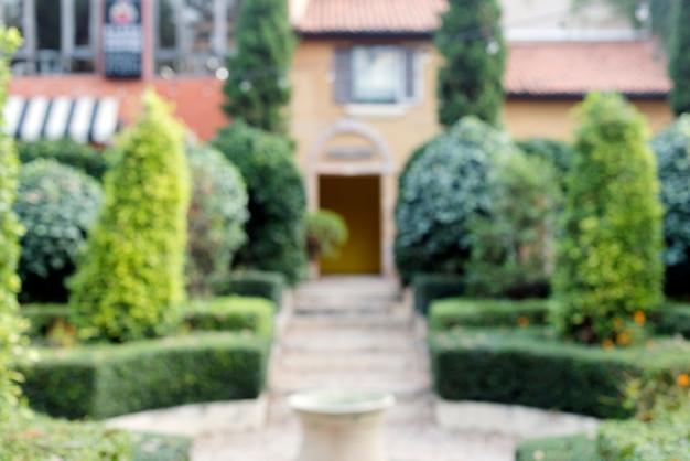 Suburban housing and garden