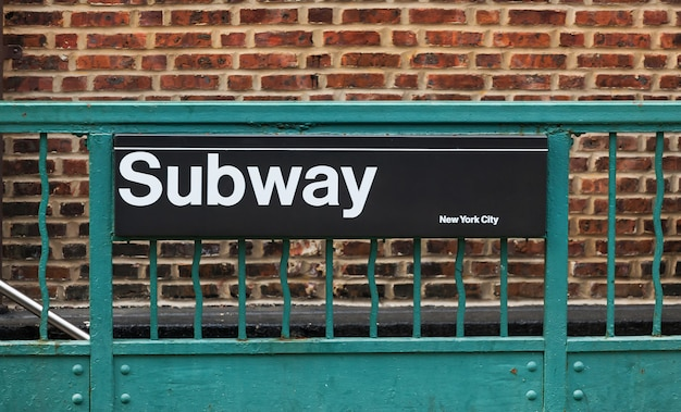 Subway sign in new york city