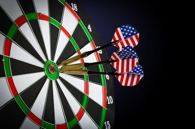 Success hitting target, aim achievement