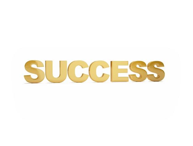 白い表面に成功の言葉
