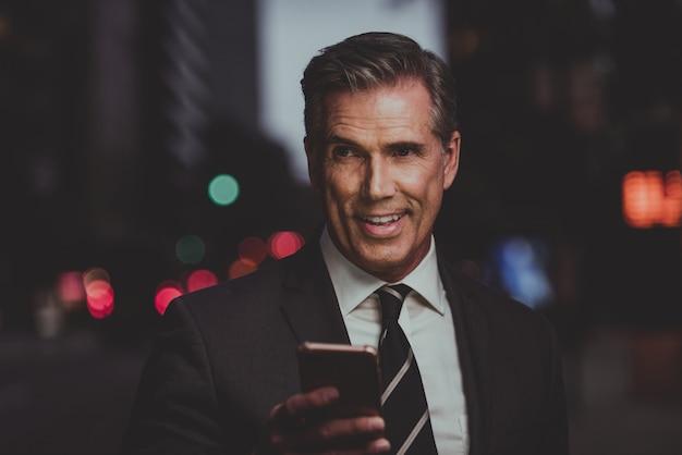 ニューヨーク市、肖像画、ライフスタイルで成功するビジネス人