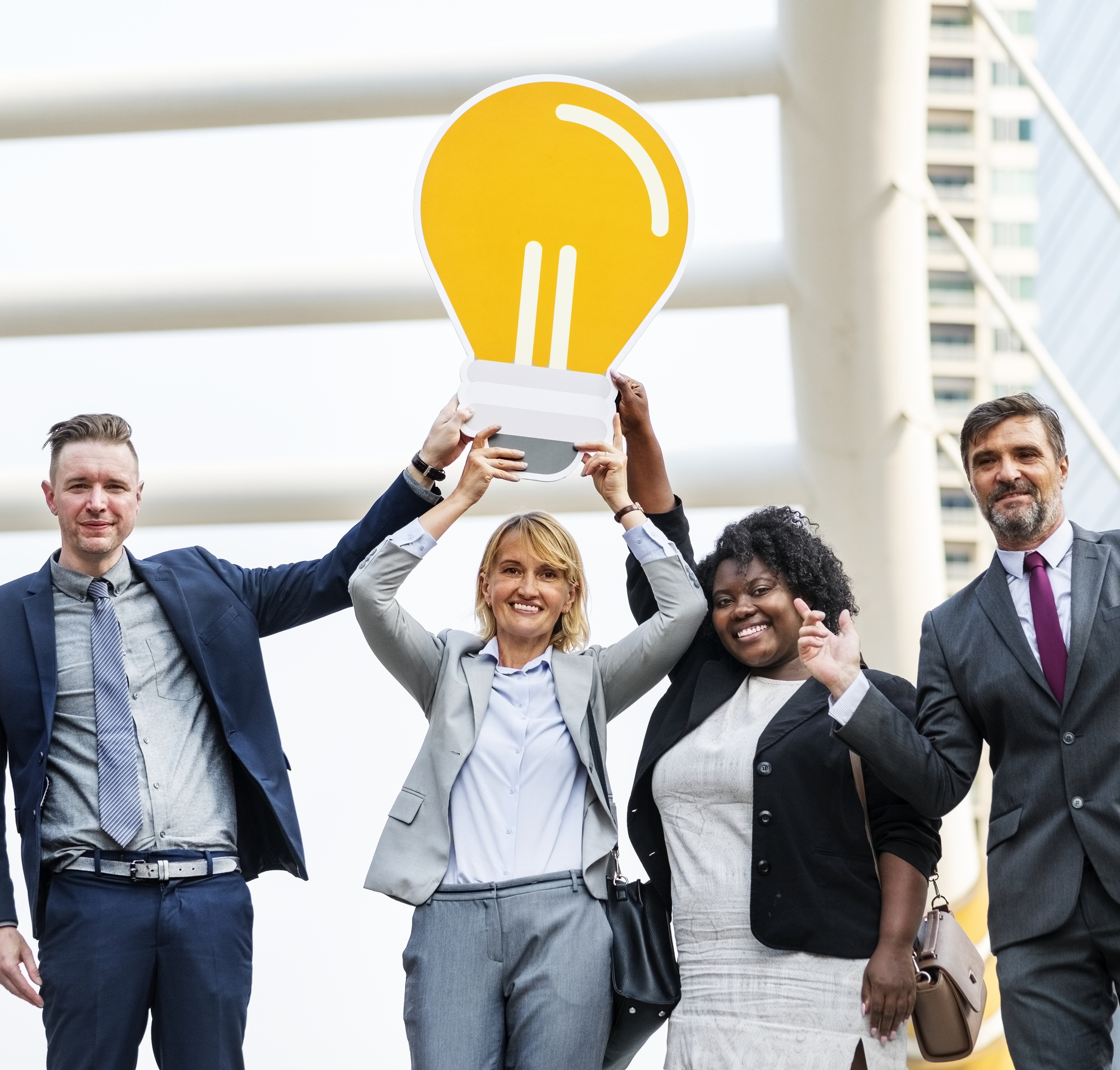 Successful business people with ideas