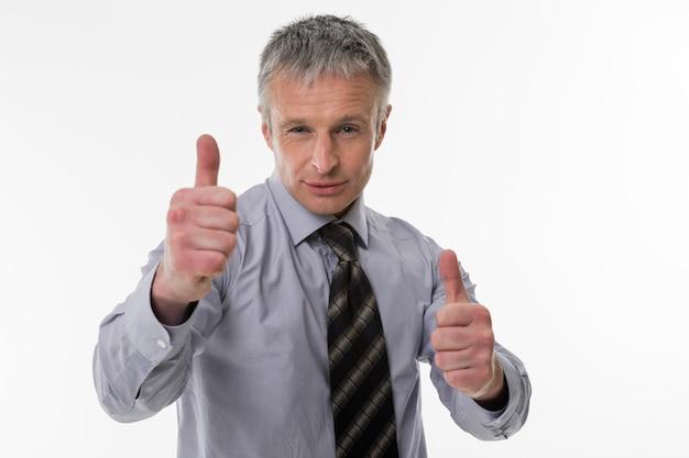 최고 경영자의 성공적인 사업가 자신감 있는 시선