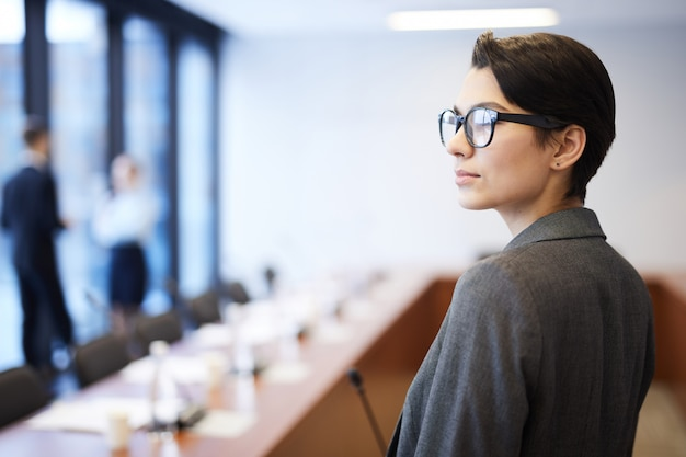 Successful businesswoman in conference room