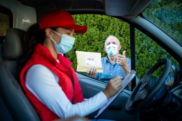 Успешная доставка пакетов во время пандемии коронавируса или covid19.