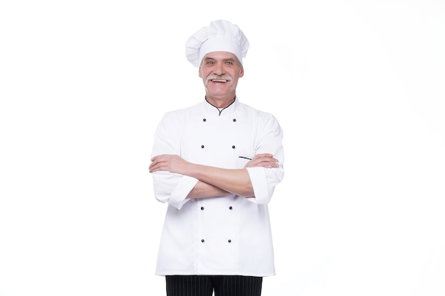 Успешный шеф-повар скрестил руки
