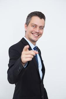 Successful male entrepreneur choosing you