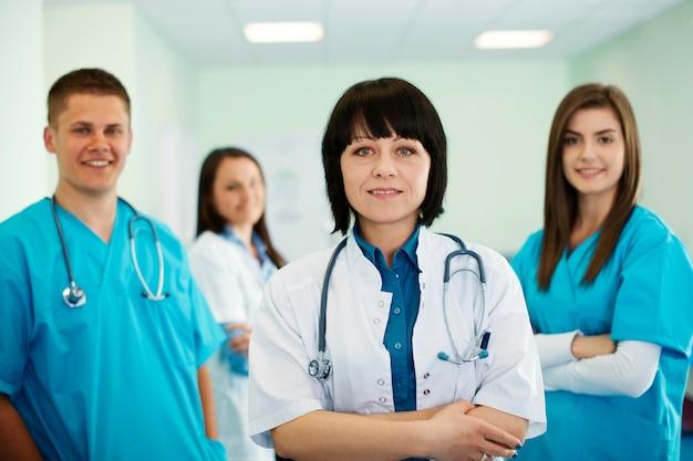 Squadra medica di successo