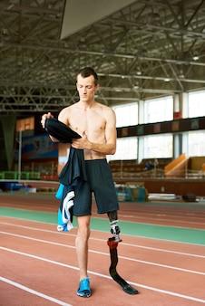 人工足で成功したスポーツマン
