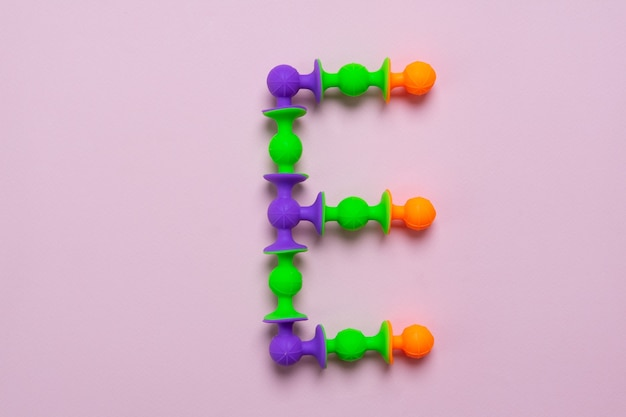 Sucker constructor as english alphabet letter