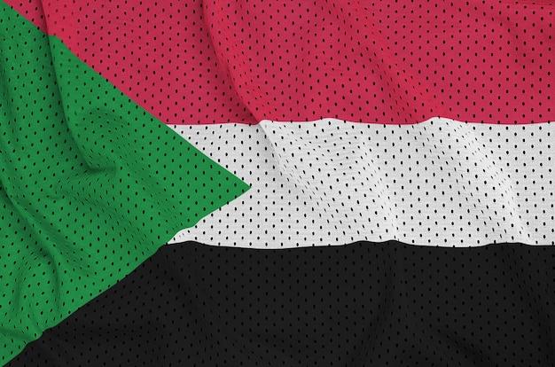 ポリエステルナイロンスポーツウェアメッシュ生地に印刷されたスーダン国旗