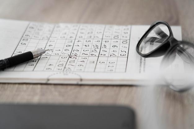 Disposizione della pagina del gioco di sudoku