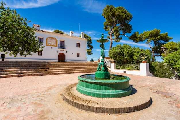 Sueca spain hermitage of the saints white little building on top of a hill place o