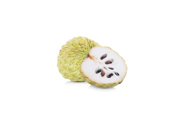 Sugar apple isolated on white space